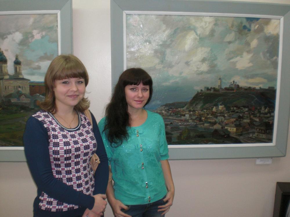 Студенты ЮТИ ТПУ на выставке «Сибирская изо-мозаика».