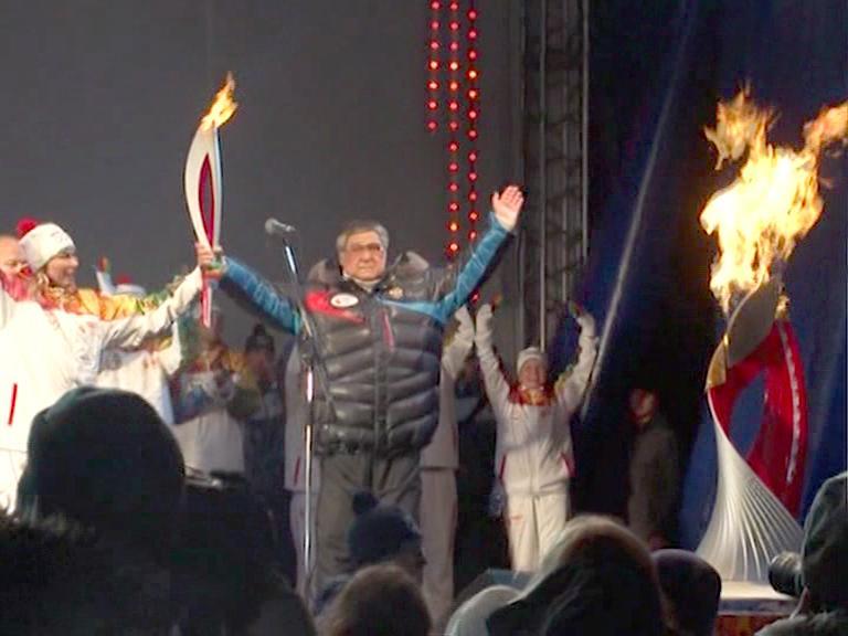 Видеосюжет от 29.11.13 г. «Олимпийский огонь».