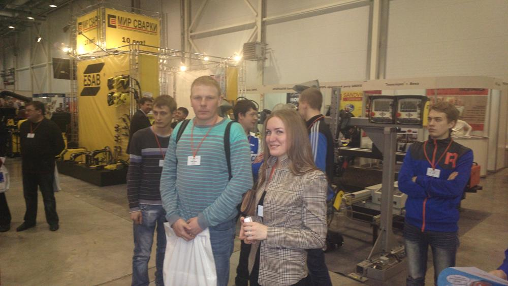 Экскурсия студентов кафедры Сварочное производство на международ