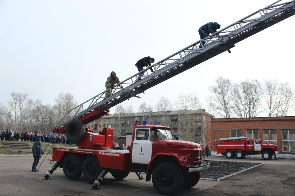 Пожарно-тактические учения в средней общеобразовательной школе №