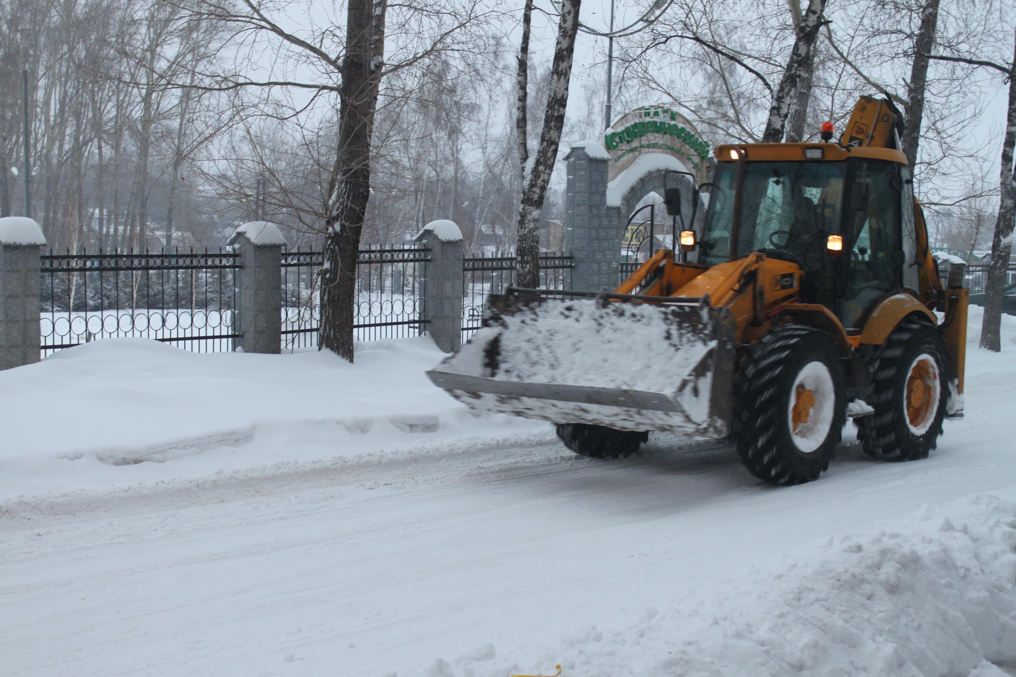 Всекузбасский субботник по уборке снега в ЮТИ ТПУ