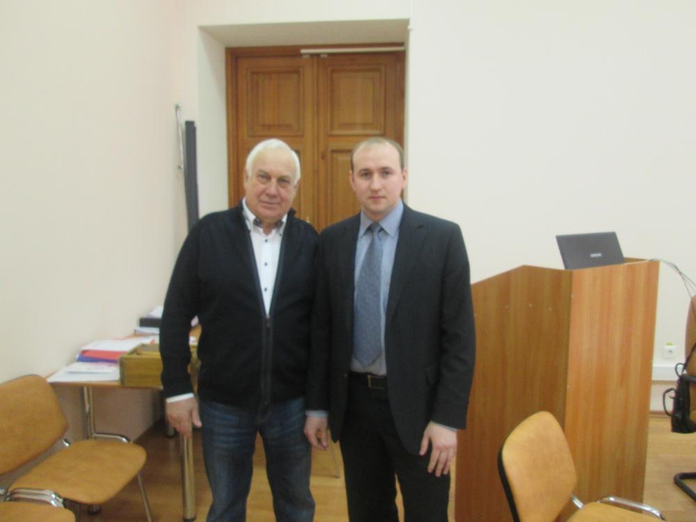 Защита кандидатской диссертации В.Г. Лизунковым.