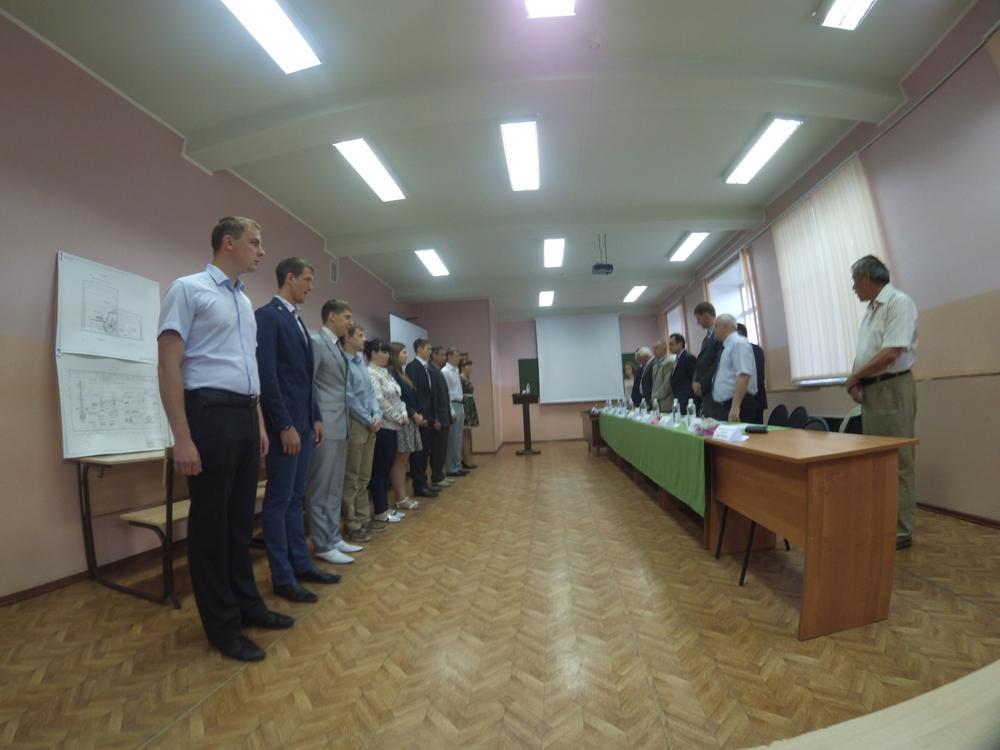Защита ВКР у металлургов.
