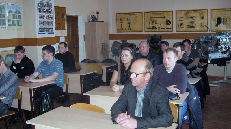 Встреча студентов кафедры «Агроинженерии» с  главным механиком Ю