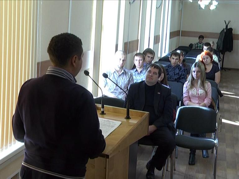 Видеосюжет от 17.10.12 г. «Повышенные стипендии для  студентов Ю