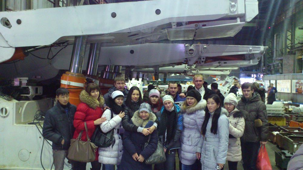 Экскурсия студентов кафедры «горно-шахтного оборудования» на ОАО