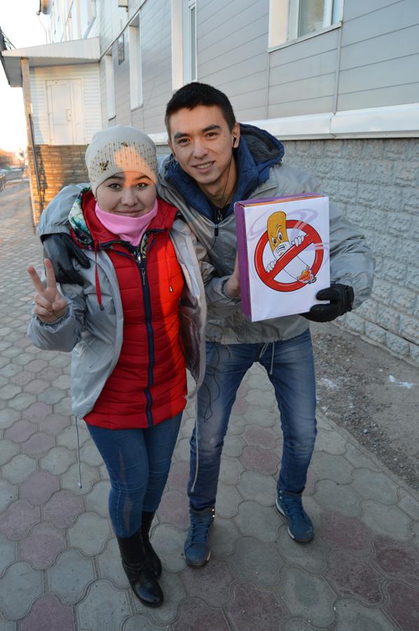 Акция против курения «Меняем сигареты на конфеты»