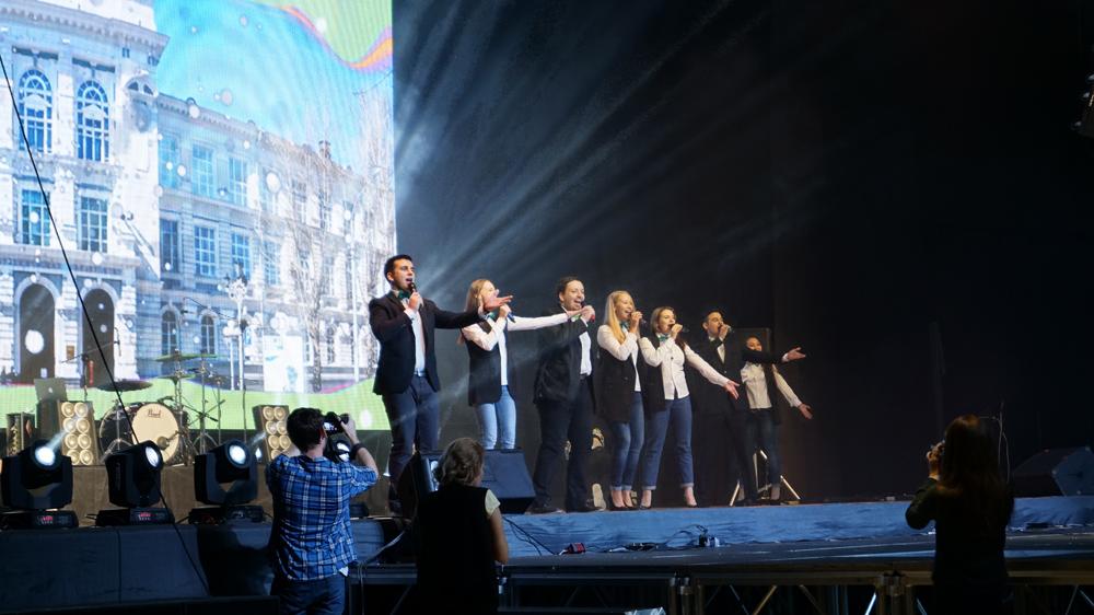 Посвящение политехников в городе Томске.
