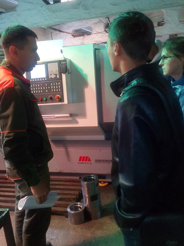 Студенты ЮТИ ТПУ побывали на экскурсии на машиностроительном пре