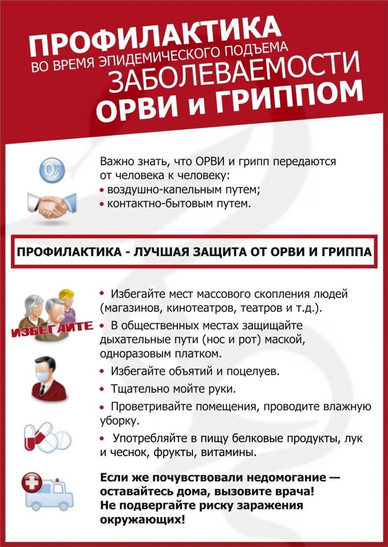 Профилактика заболеваемости ОРВИ и гриппом