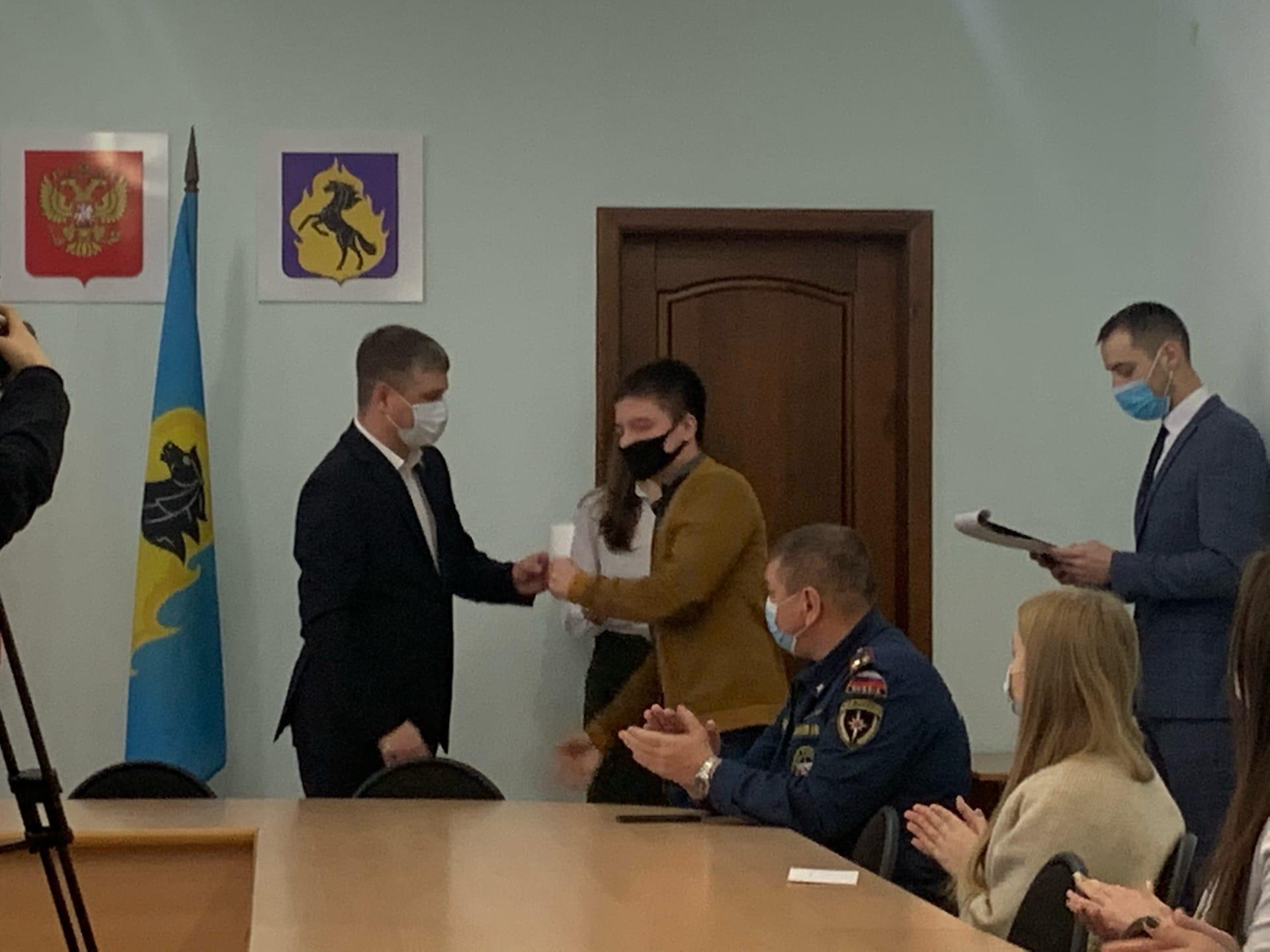 Награждение студентов-волонтёров ЮТИ ТПУ «Клуб добровольных пожа